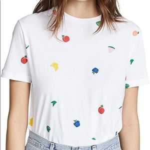 Etre Cecile fruit all over t shirt white